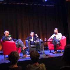 Prof. Kesselring und Valentin Gauß im Gespräch mit Gisela Benkert